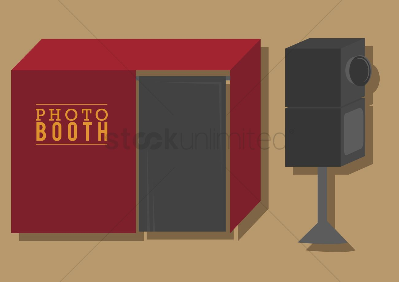 1300x919 Vector Of A Photobooth Vector Image