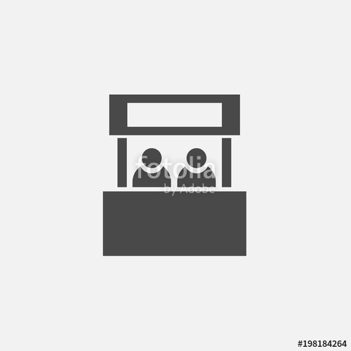 500x500 Booth Vector Icon With People Stock Image And Royalty Free
