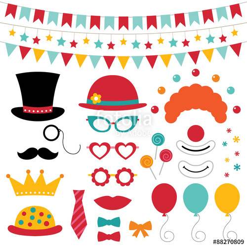 500x500 Circus Photo Booth Props And Decoration Stock Image And Royalty