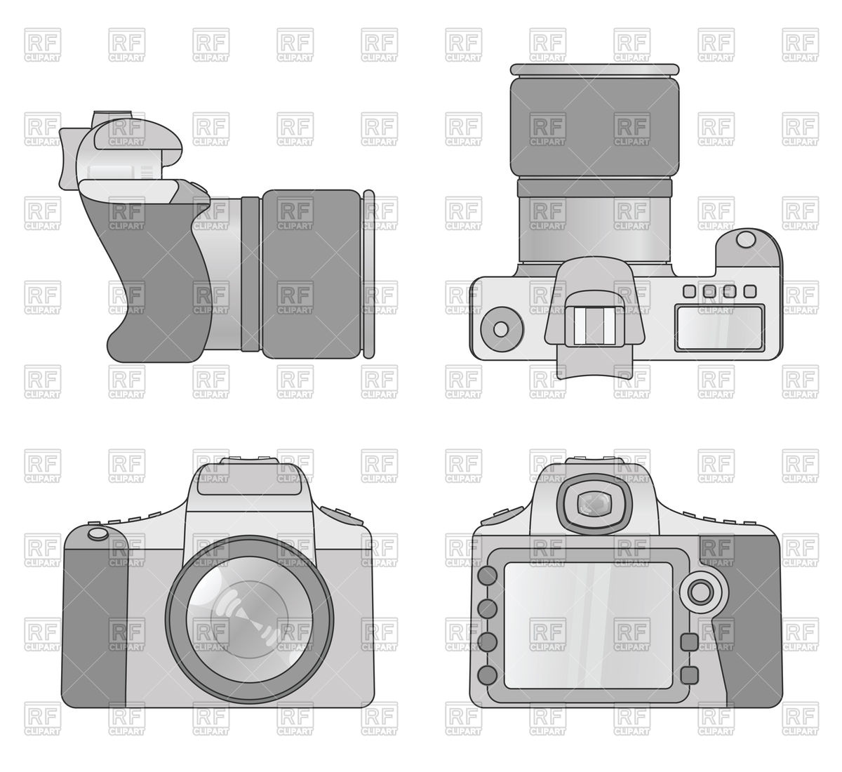 1200x1100 Different Views Of Digital Camera Vector Image Vector Artwork Of