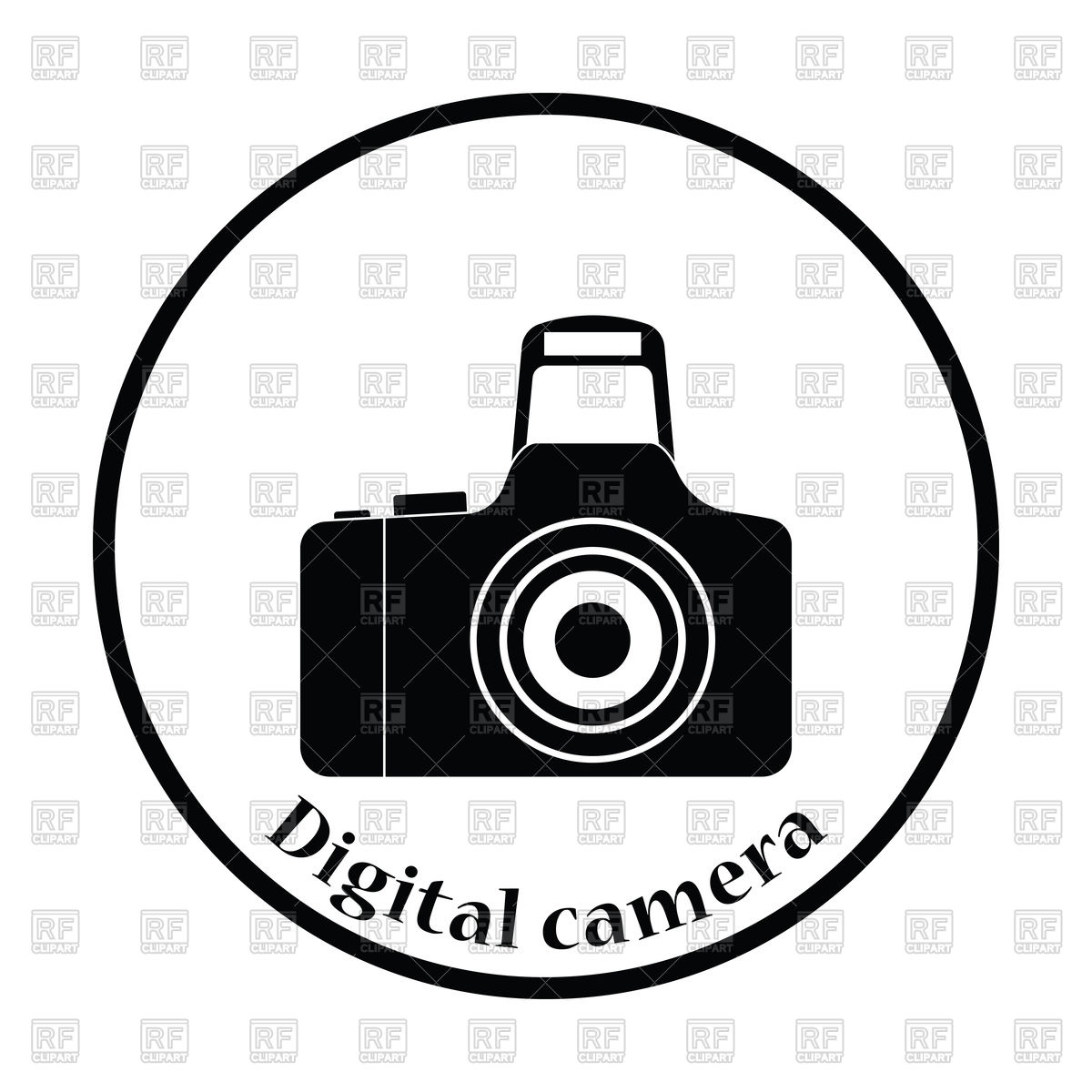 1200x1200 Thin Circle Design Icon Of Photo Camera Vector Image Vector