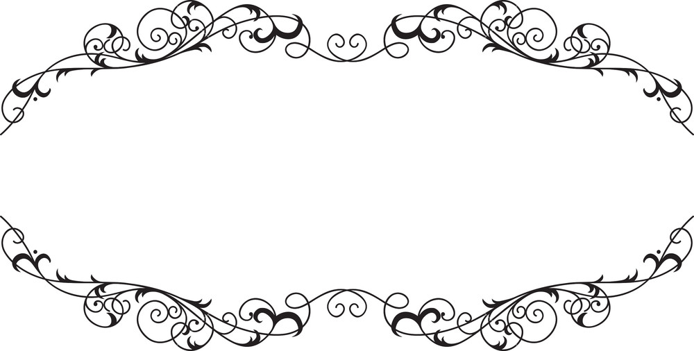 1000x506 Floral Frame Vector Element Royalty Free Stock Image