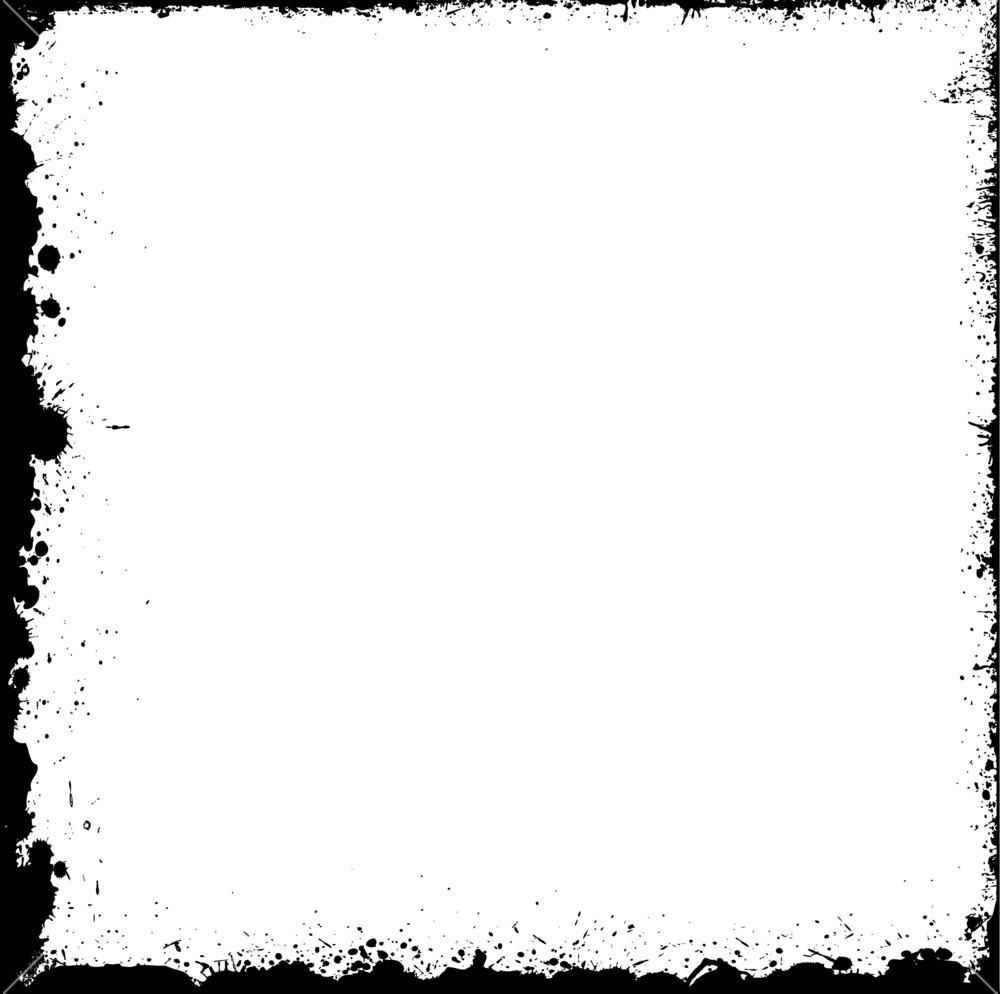 1000x994 Grunge Blot Frame Vector Design Royalty Free Stock Image