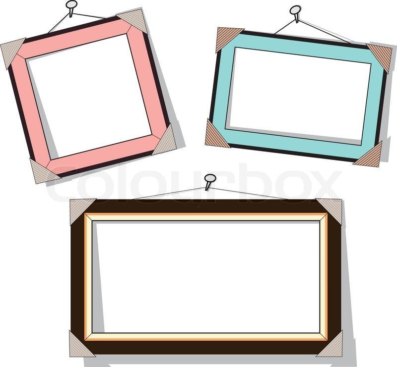 800x741 Modern Frame, Vector Illustration. Stock Vector Colourbox