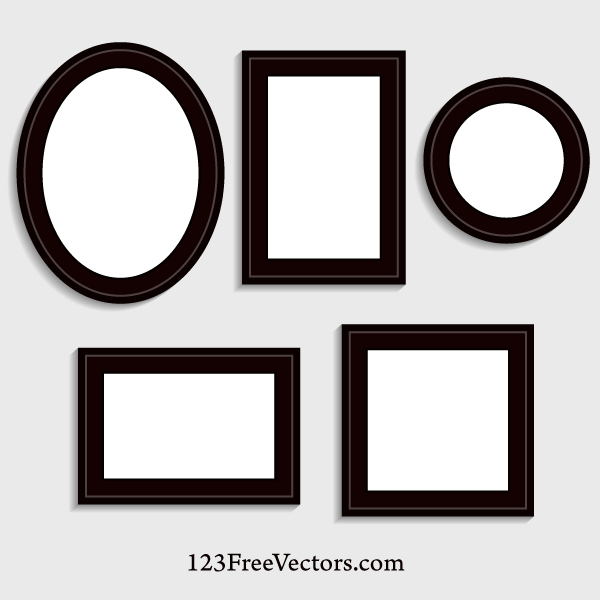 600x600 Picture Frame Vector By 123freevectors