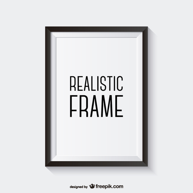 626x626 Realistic Black Frame Vector Free Download