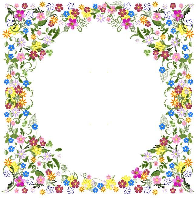 646x653 Spring Flower Frame Vector Vector Art Amp Graphics