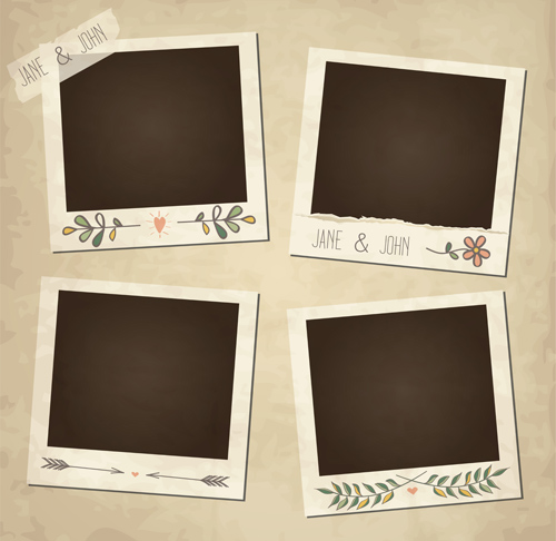 500x486 Cute Photo Frame Vector Set 08 Free Download