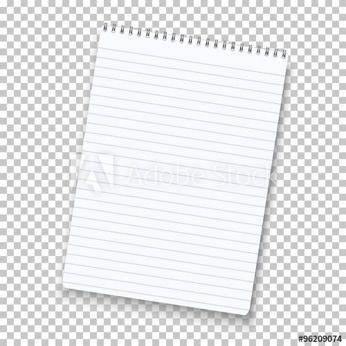 500x500 Photorealistic Vector Notepad Isolated On Transparent Background