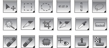 453x200 Photoshop Object And Element Tool Vector Icons Design Chair