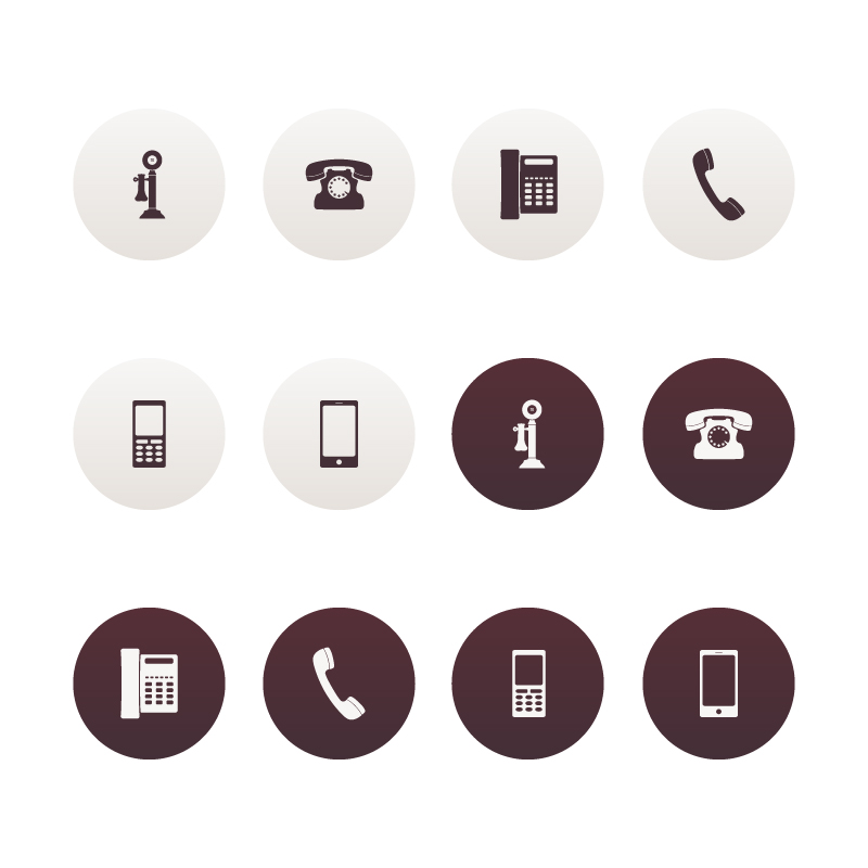 800x800 Vector Phone Icons