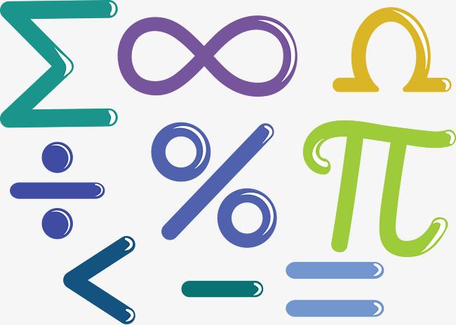 650x464 Vector Mathematical Symbols, Mathematics Symbol, Sleek