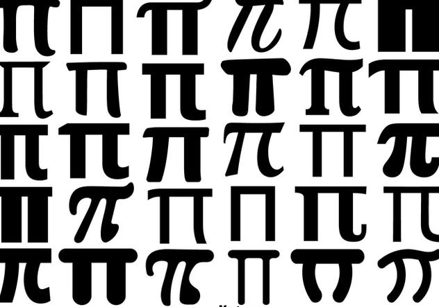 632x443 Vector Pi Symbol Icon Set Free Vector Download 430725 Cannypic