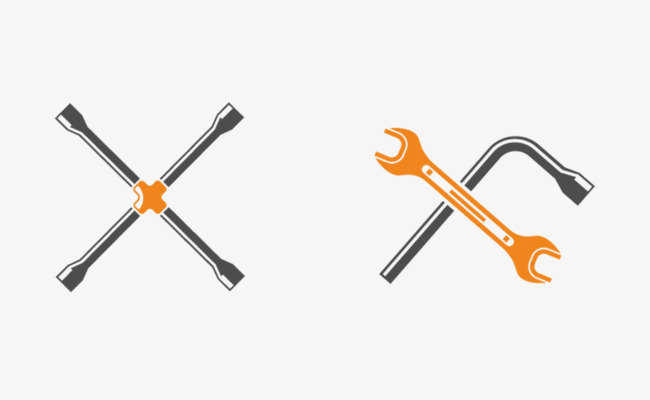 650x400 Vector Pickaxe Wrench Material, Wrench Vector, Vector Material