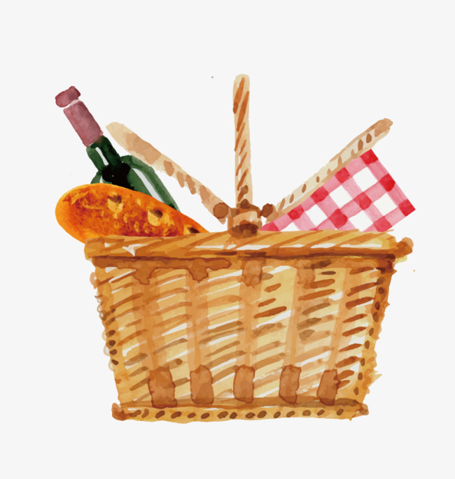 650x685 Vector Picnic Basket, Basket, Red Wine, Food Png And Vector For