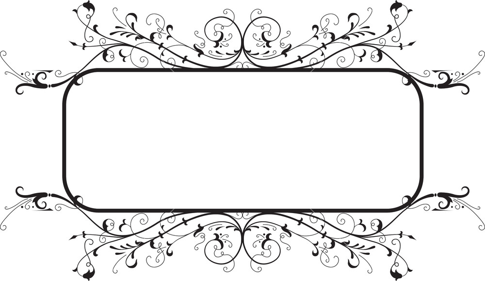 1000x579 Floral Frame Vector Element Royalty Free Stock Image