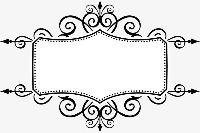650x434 Ancient Black Pattern Vector Frame, Vector Ancient Box, Frame