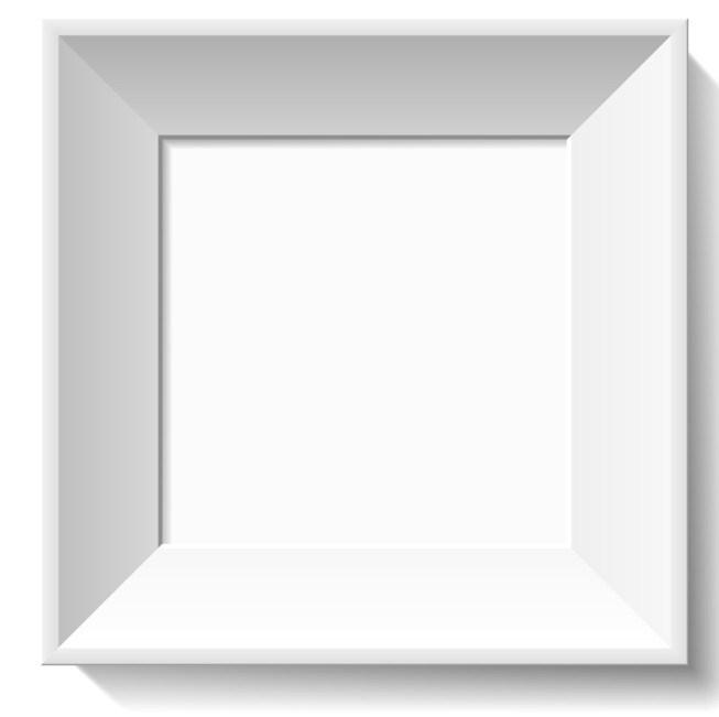 653x651 Free Simple White 3d Feel Photo Frame Vector