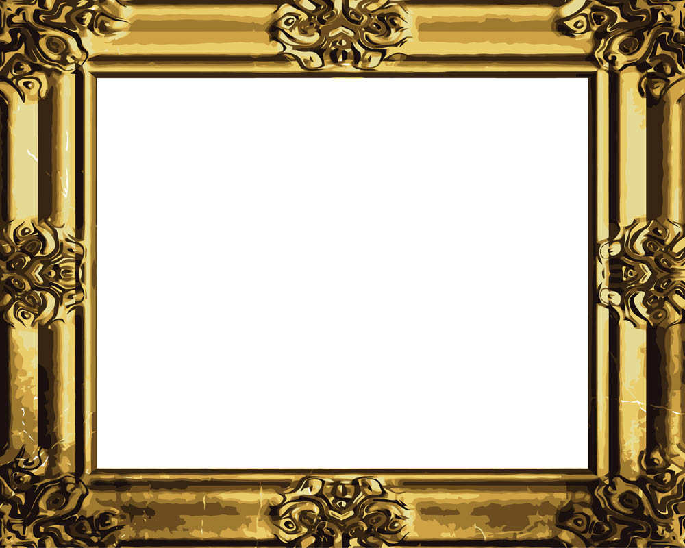 1000x800 Gold Vintage Frame Clipart Antique Vector