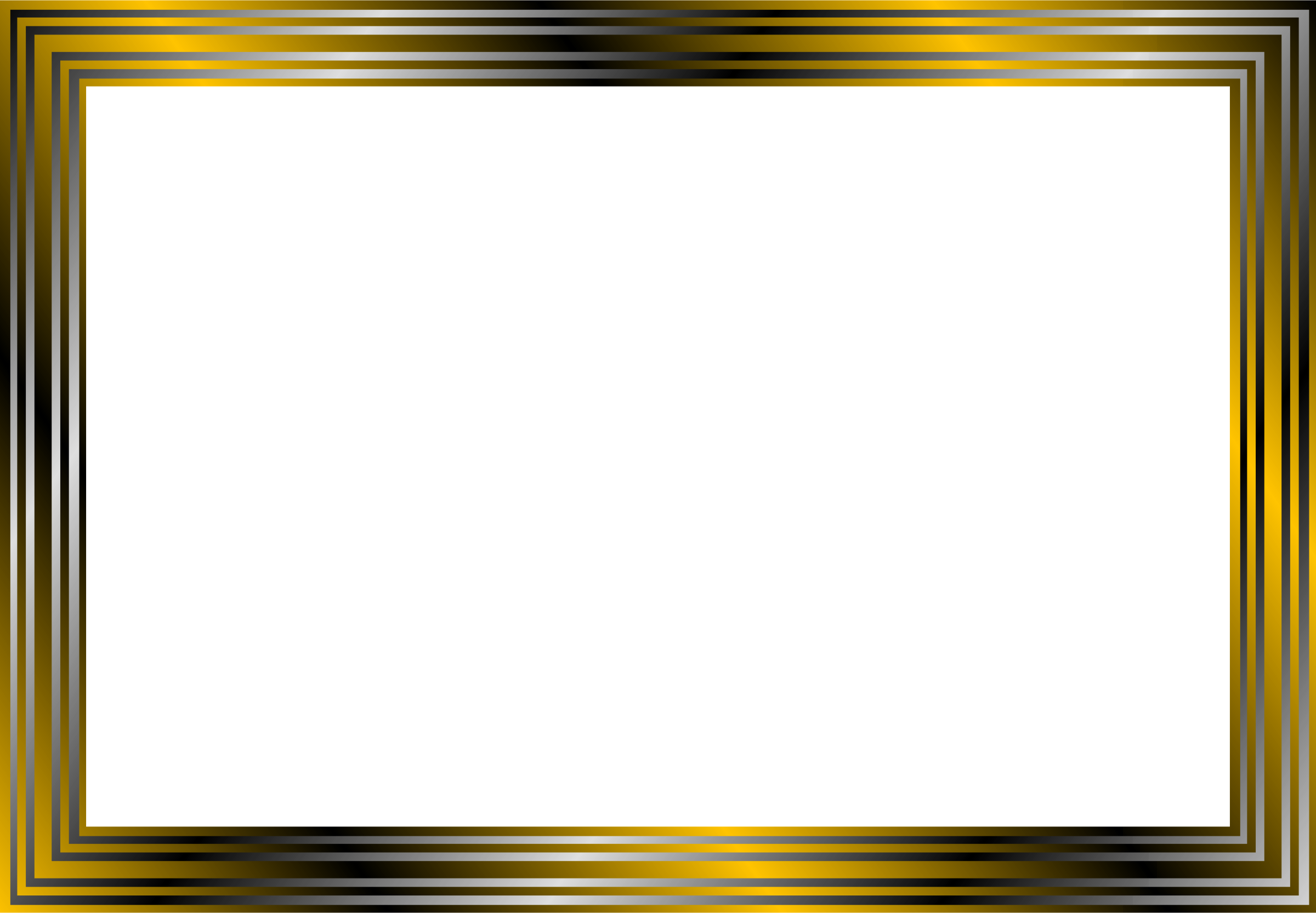 2400x1666 Gold And Black Frame Vector Clipart Image