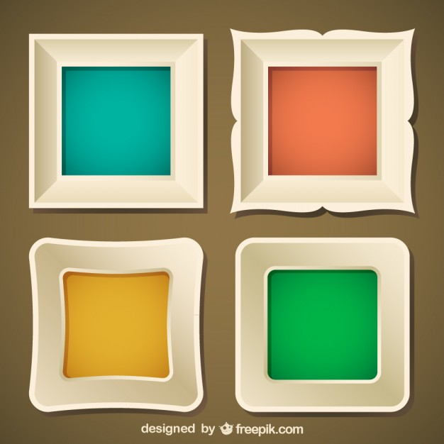 626x626 Stylish Frame Set Vector Where To Get Free Frames For Psd