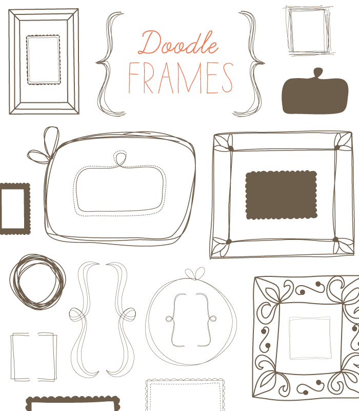 700x800 This Doodle Frame Vector And Clip Art Images Have Endless Uses