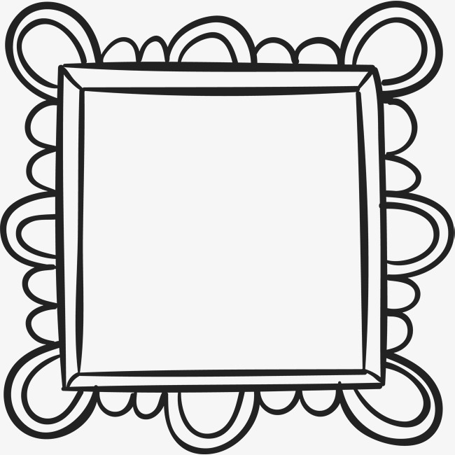 650x650 Wave Lace Frame, Vector Png, Frame, Hand Painted Picture Frames