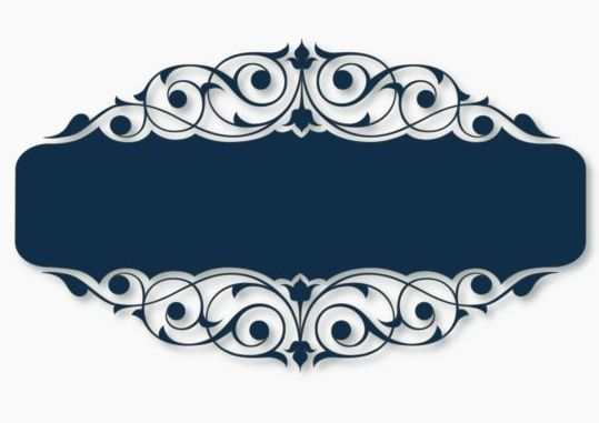 539x381 Beautiful Blue Floral Frame Vector 02 Free Download