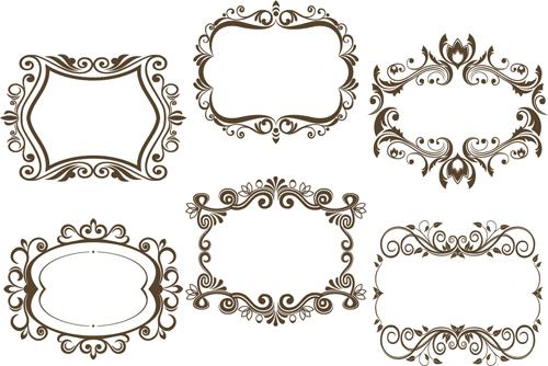 500x334 6 Kind Floral Frame Vector Free Download