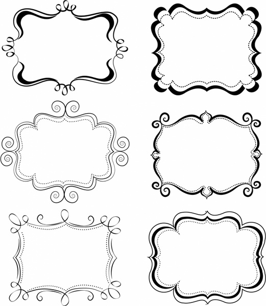 521x600 Free Vector Frame Vector Funky Frames 1.59mb