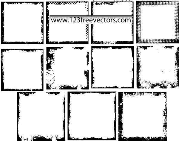 600x471 Grunge Photo Frames Vector Download Free Vector Art Free Vectors