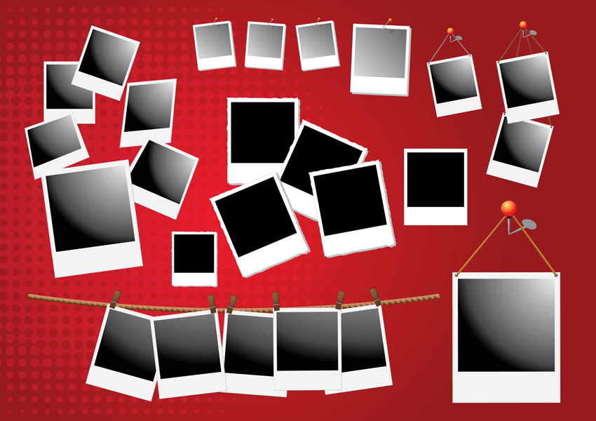 850x600 Polaroid Frame Vectors Vector Art Amp Graphics