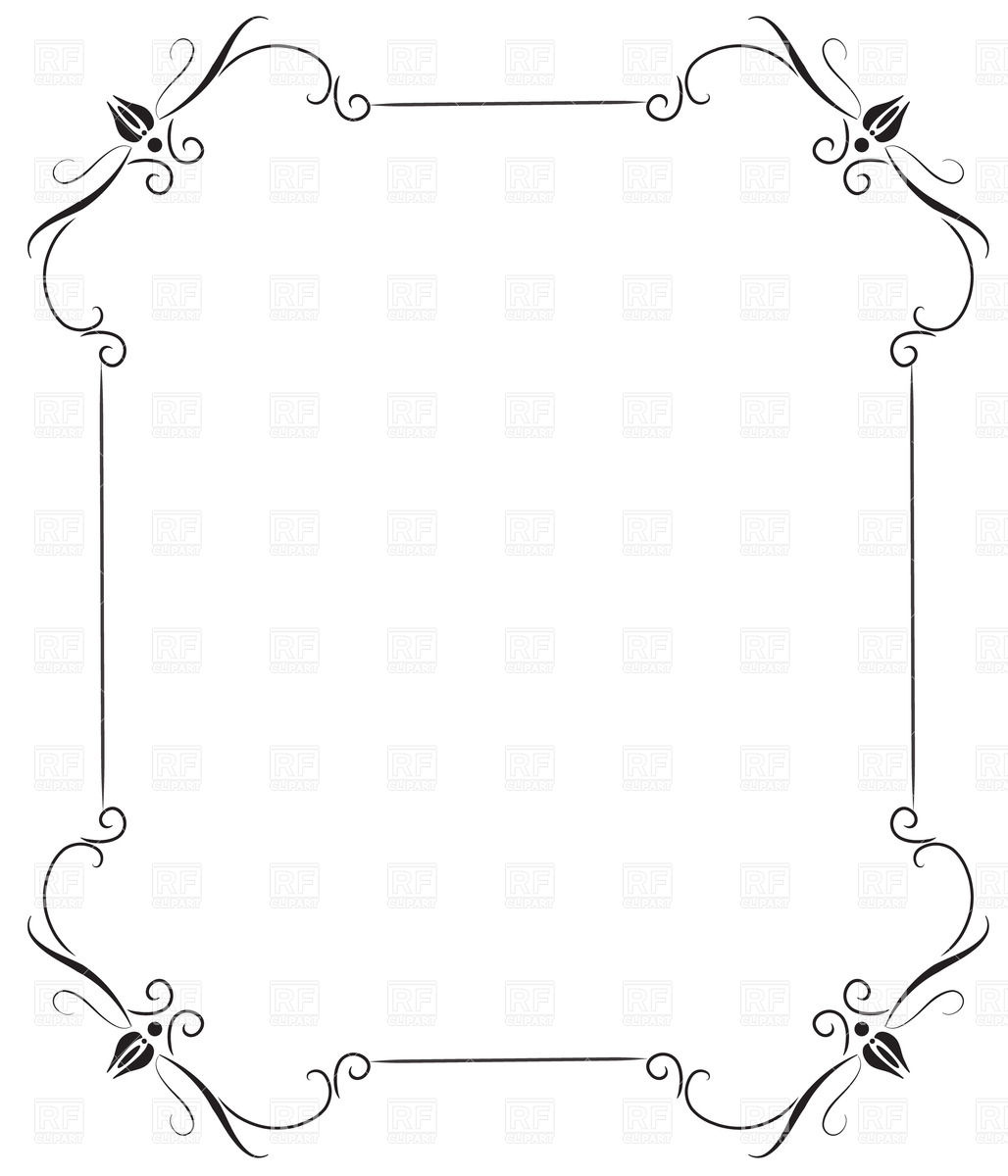 1028x1200 Black Vintage Frame Vector Image Vector Artwork Of Borders And