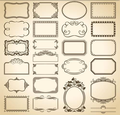 500x477 Decorative Vintage Frames 13 Ai Format Free Vector Download