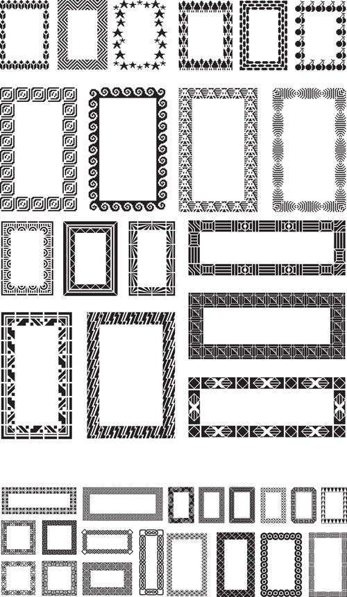 500x861 Different Black Frames Vector Set Free Download