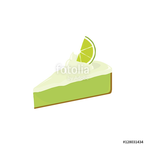 500x500 Key Lime Pie Slice 2 Stock Image And Royalty Free Vector Files On