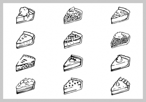 285x200 Pie Slice Free Vector Graphic Art Free Download (Found 832 Files