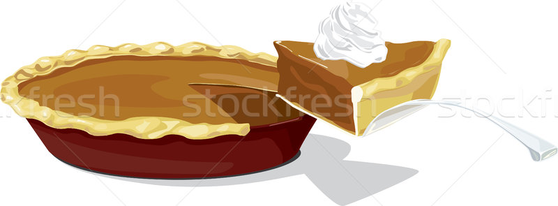 800x295 Pumpkin Pie With A Slice Vector Illustration Paul Brittenham
