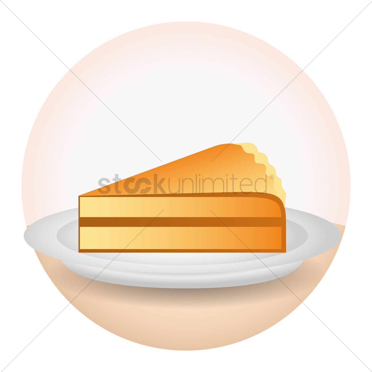 1300x1300 Pumpkin Pie Slice Vector Image
