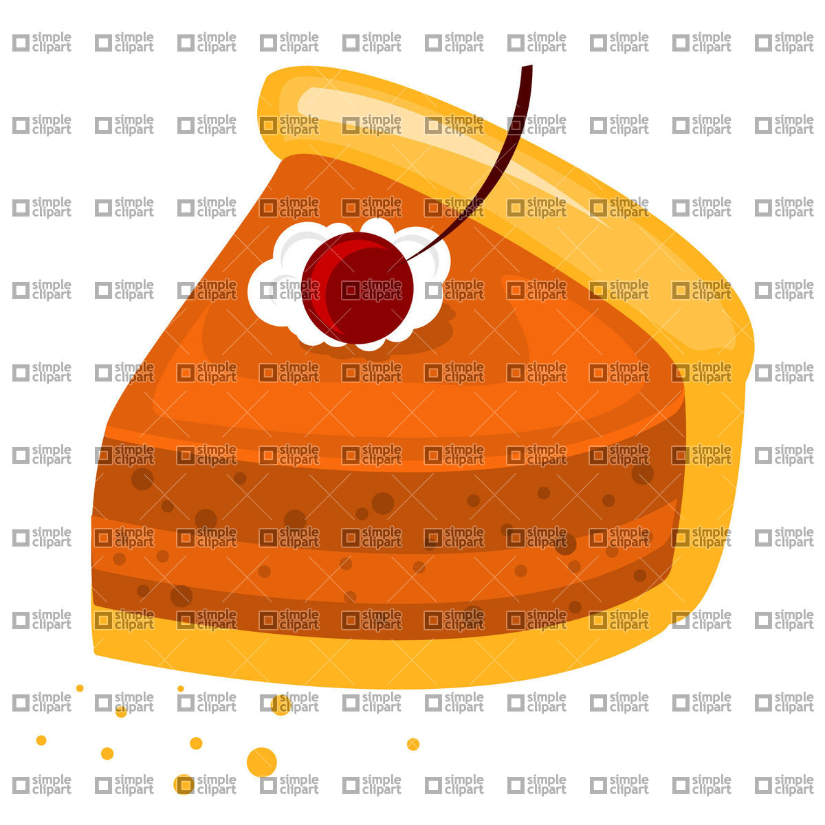 1200x1200 Slice Of Cherry Pie Vector Image