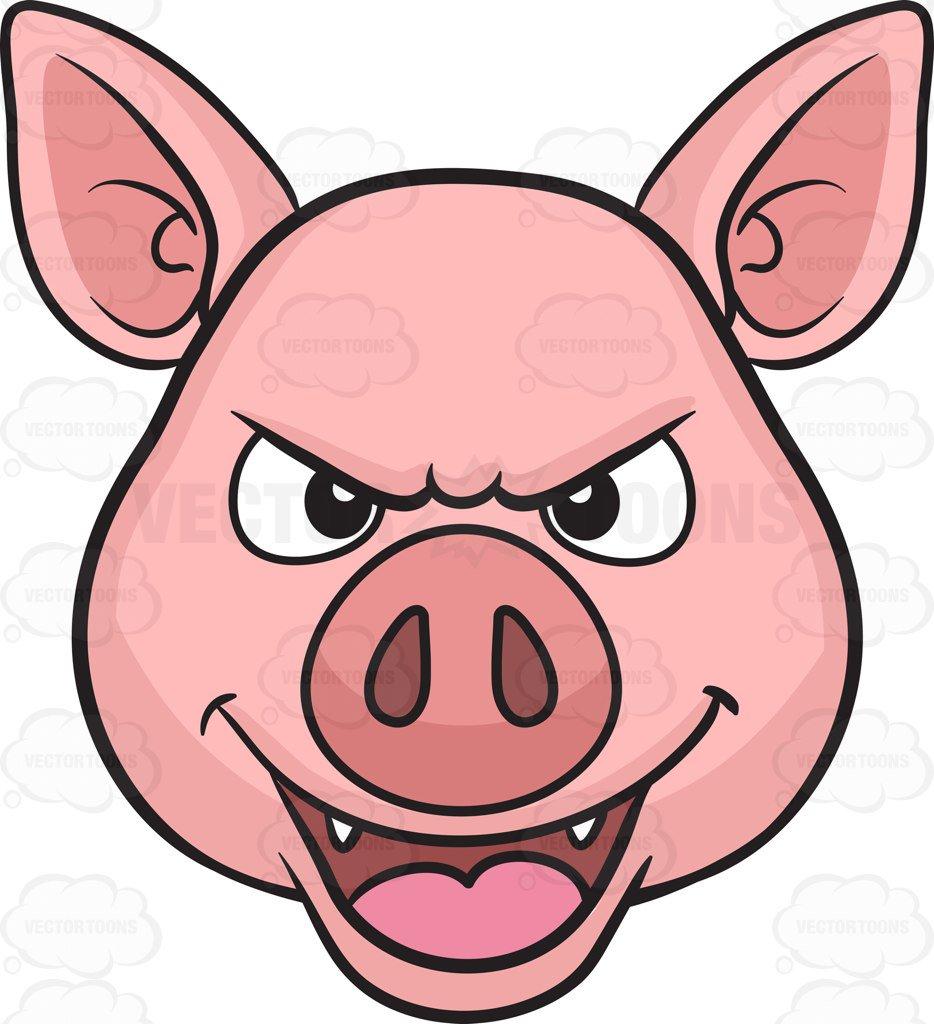 Pig Face Vector