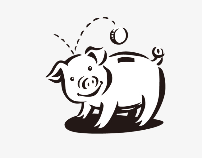 650x507 Cute Cartoon Pig Vector, Cartoon Clipart, Pig Clipart, Cartoon Png