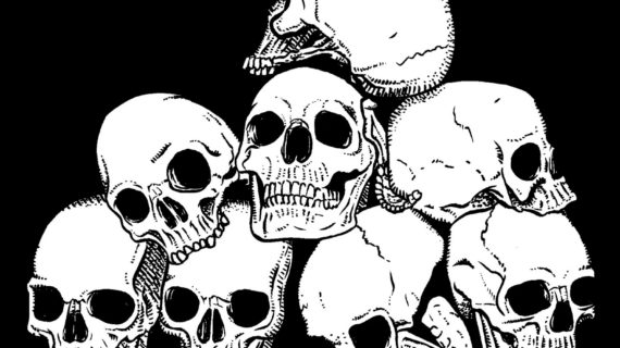 570x320 Pile Of Skulls Drawing Pile Of Skulls Vector Illustration Royalty