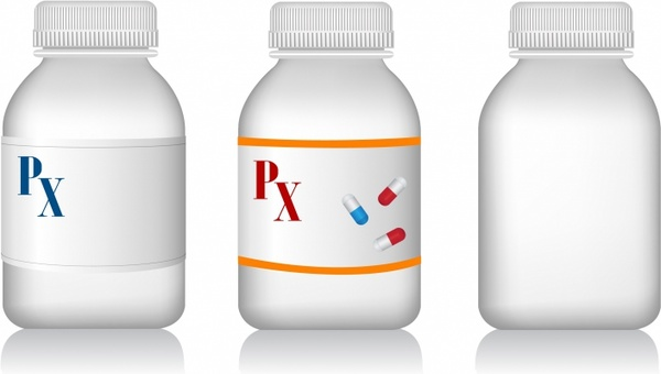 600x340 Pill Bottles Free Vector In Adobe Illustrator Ai ( .ai