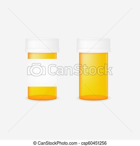 450x470 Realistic Pill Bottle. Mock Up. Vector Illustration.