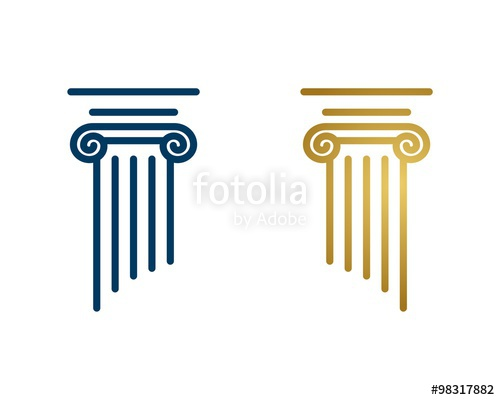 500x400 Pillar Lawyer Logo Stock Image And Royalty Free Vector Files On