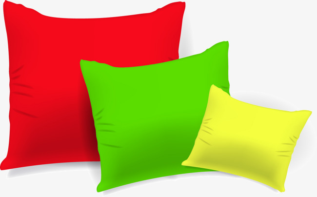 650x404 Vector Hand Colored Pillow, Hand Vector, Vector, Hand Painted Png