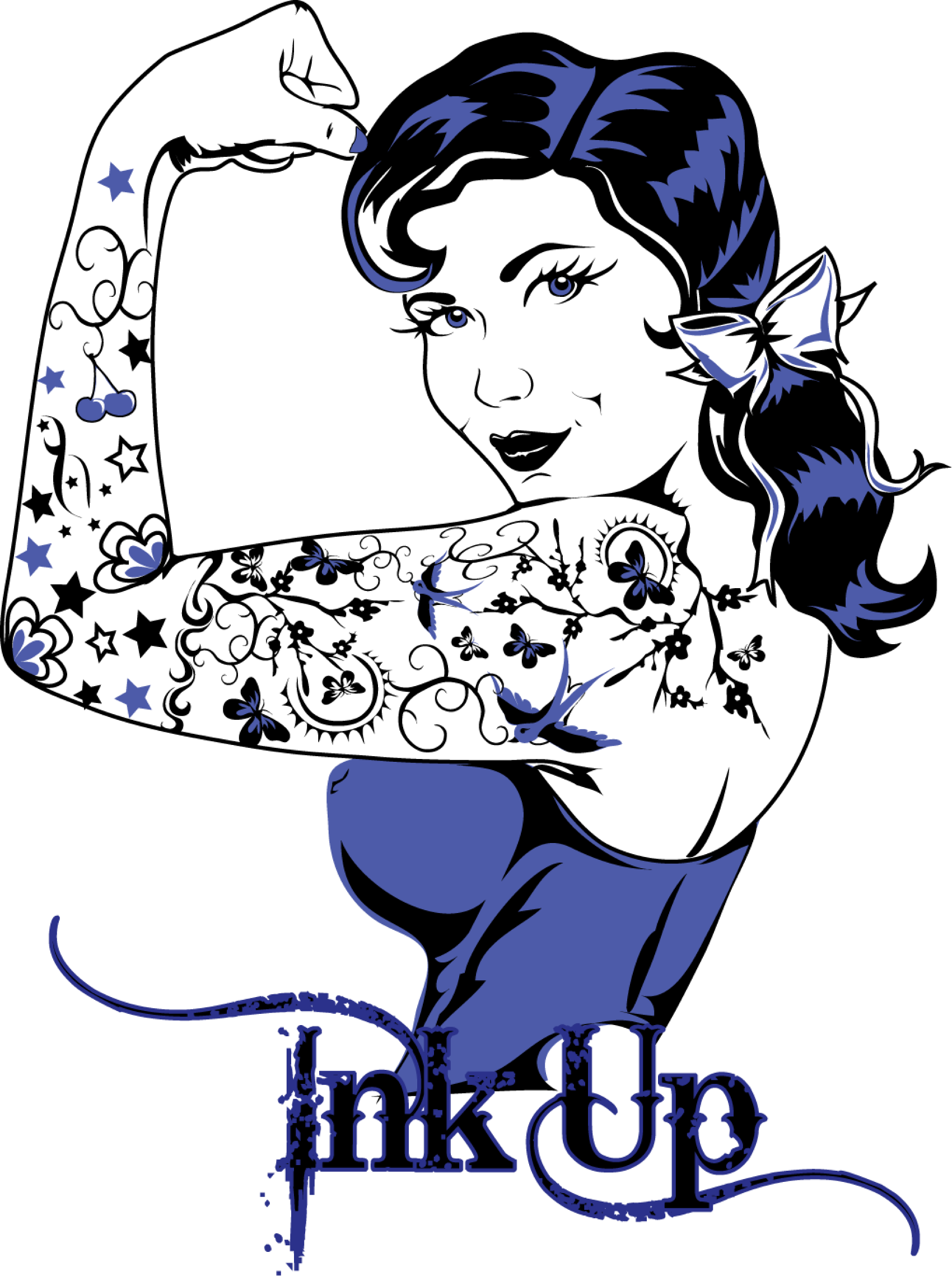 f66d93f60 1700x2278 Retro Rockabilly Tattoo Pinup Girl Vector Graphic Design By Red