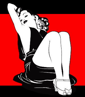 300x340 Just Trash Classic Pin Up Vector