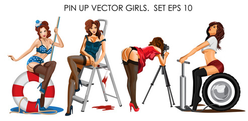 493x240 Pin Up Photos, Royalty Free Images, Graphics, Vectors Amp Videos